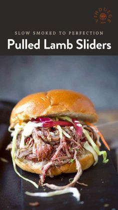 Recipes Using Lamb, Lamb Recipes, Dinner Recipes, Appetizer Recipes, Yummy Recipes, Dinner Ideas, Pulled Lamb, Smoked Pulled Pork, Pulled Chicken