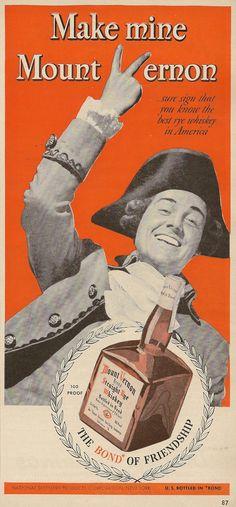 Mount Vernon Rye Whiskey - 1942 ad