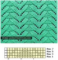 Knitted Lace Pattern. (Chart N