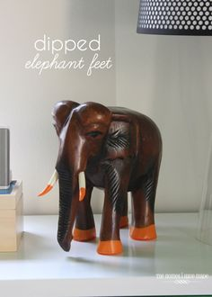 I really wanted to do something fun to give this wooden elephant a more youthful and whimsical feel. Let me show you! Boy Room, Kids Room, Child Room, Little Boys Rooms, Cool Diy Projects, My House, Dips, Elephant, Creative