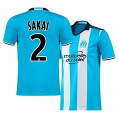 Marseille Third 16-17 Season Blue #2 SAKAI Soccer Jersey [I154]