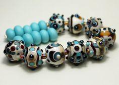 SRA  Artisan Glass Lampwork Bead Set by StoneDesignsbySheila, $85.00