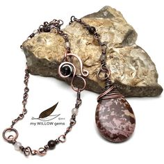 Tree Nymph Copper Wire Wrapped Jewelry Petrified by MyWillowGems