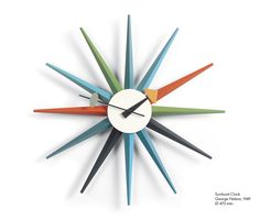 George Nelson Sunburst Clock from Vitra. Someday it will be mine. Oh yes.
