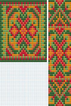 схемы бисер бисероплетение гердан гайтан ткачество bead pattern loom