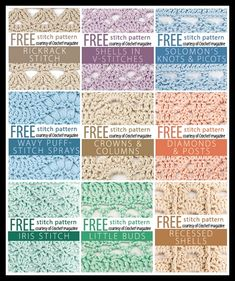 75 FREE Crochet Stitches