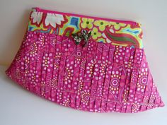 style stiches, perfectly pleated clutch, amy butler
