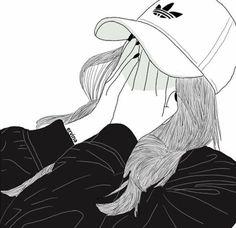 Read Fan Art Girl from the story Tumblr Girl Drawing, Tumblr Sketches, Girl Drawing Sketches, Tumblr Drawings, Cute Girl Drawing, Girly Drawings, Outline Drawings, Girl Sketch, Best Friend Drawings