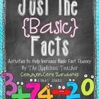 Math fact fluency and strong number sense are imperative to  building a stable math foundation. The activities and centers in this pack are designe...
