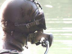 Scuba Diving Mask, Scuba Gear, Full Face Mask, Smooth Skin, Black Rubber, Football Helmets, Underwater, Riding Helmets, Wetsuit