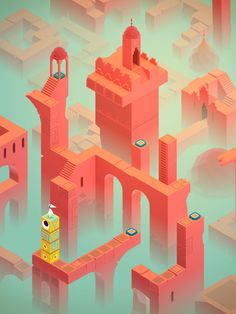 Monument Valley: A World of Impeccable Architecture, Geometry and Landscape Twists | http://www.yatzer.com/monument-valley-game