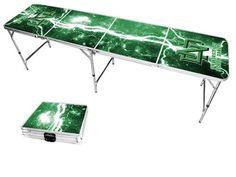 University of North Dakota Fighting Hawks Lightning Bolt Portable Folding Table
