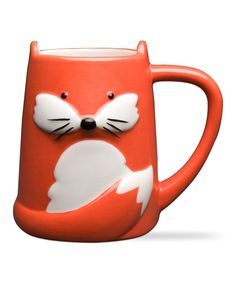 Modern Furniture and Decor for your Home and Office TAG Foxy Tail Ceramic Mug Cool Mugs, Unique Coffee Mugs, Animal Mugs, Cute Cups, Cute Fox, Ceramic Cups, Funny Mugs, Mugs Set, Mug Cup