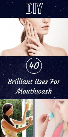 Believe it or not, mouthwash has many uses beyond simply cleaning your teeth and keeping your breath minty fresh. #40 #Brilliant #Uses #Mouthwash Potty Trainer, Blue Jeep, Inside Plants, Bridal Heels, Diy Carpet, Fruit Art, Pastel Hair, Mouthwash, Pixie Hairstyles