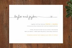 Love this simple yellow and black Wedding Invitation by R studio at minted.com