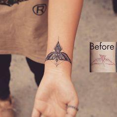 Likes, 23 Kommentare - winzige Tattoos (kleine Tattoos) ⤴ (winzige little. - Tattoo tattoos for women Cover Up Tattoos, Body Art Tattoos, New Tattoos, Small Tattoos, I Tattoo, Bird Wrist Tattoos, Angel Wings Wrist Tattoo, Tattoo Eagle, Wrist Tattoo Cover Up