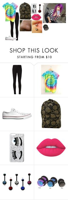 """uy"" by annie-hall-barton ❤ liked on Polyvore featuring J Brand, Converse, Chiara Ferragni, Lime Crime and Carolina Glamour Collection"