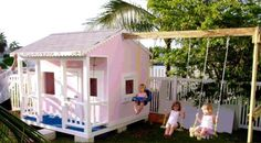 Little girl playhouse