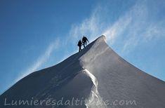 Sur l'arete Est du Mont Maudit, Chamonix, France