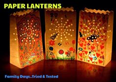 Earth Hour Ideas - Family Days Tried And Tested Diy For Teens, Crafts For Teens, Arts And Crafts, Diy Crafts, Earth Day Projects, Earth Day Crafts, Diy Projects, Garden Lanterns, Paper Lanterns