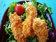 Zelf kipnuggets maken! Het beste recept voor knapperige kipnuggets. Waarschuwing! Als je deze kipnuggets hebt geproefd, wil je ze nooit meer kopen.