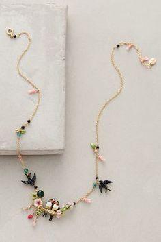 Les Nereides Lovebird Wreath Necklace #anthrofave