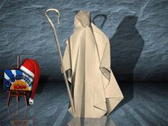 Origami Nativity Shepherd by Max Hulme