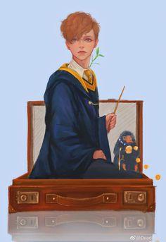 Art Harry Potter, Harry Potter Characters, Harry Potter Universal, Harry Potter Fandom, Fantastic Beasts And Where, Fantastic Art, Newton Scamander, Kung Fu Panda, Fan Art