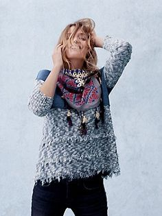 Fringed Knit Sweater FreePeople