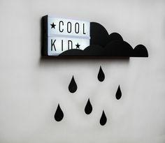 Wandplank Kinderkamer Cloud Shelf Black
