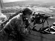 Lady Designated Marksman and her M14 EBR