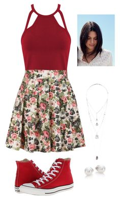 Untitled #110 by h-akther on Polyvore featuring Miss Selfridge, Louche, Converse, Mikimoto and Topshop