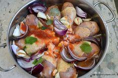 reteta pulpe la cuptor cu usturoi si ceapa