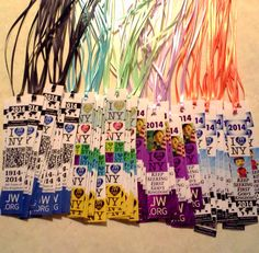 "Bible ribbon inserts I made as International Convention gifts. Couple designs for me to give to brothers, and couple ""girly"" designs for my wife to give to sisters. Can insert in the spine of your Bible to give you 2 extra ribbons, or use as a regular bookmark."