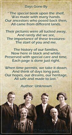 Beautiful Genealogy & Family History Poem