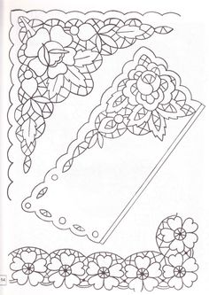 "ru / Los-ku-tik - Album ""Album of Patterns"" Cutwork Embroidery, Embroidery Patterns, Parchment Cards, Point Lace, Cut Work, Motif Floral, Lace Making, Bobbin Lace, Craft Patterns"