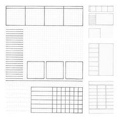 Bullet Journal Planner Inserts- Letter Size Printable Handdrawn ...