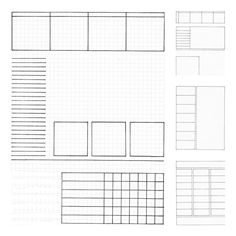Use Excel to plan box layouts for your Bullet Journal