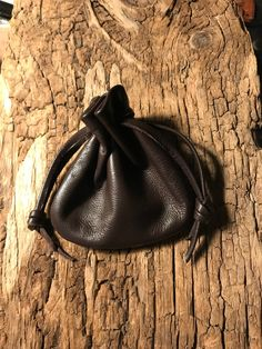 Pouch, Drawstring Bag, Leather Pouch Bag, Earbud Holder, Coin Purse,Brown Pouch,Handmade By Shirlbcreationstoo Mens Leather Necklace, Medicine Bag, Sack Bag, Coin Bag, Drawstring Pouch, Little Bag, Pouch Bag, Leather Pouch, Leather Accessories