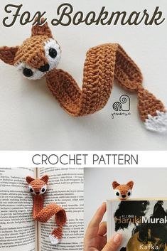 Mini Amigurumi Fox Bookmark Crochet Pattern Absolutely fun crochet bookmark pattern Cute little fox bookmark amigurumi crochet pattern Perfect last minute gift idea for a bookworm crochetpattern amigurumipattern crochetbookmark Best Picture Marque-pages Au Crochet, Crochet Easter, Crochet Pattern Free, Crochet Mignon, Crochet Patterns Amigurumi, Crochet Gifts, Cute Crochet, Knitting Patterns, Pattern Sewing