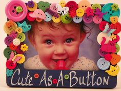 Cute As A Button Frame