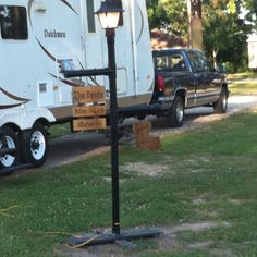 Lite pole made with PVC Pipe!!!!! Going make me one!!!!!