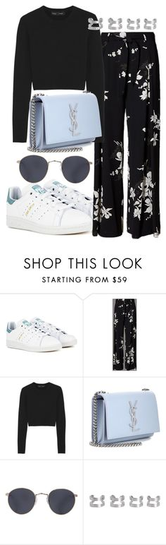 """""""Sem título #1657"""" by mariandradde ❤ liked on Polyvore featuring adidas, Proenza Schouler, Yves Saint Laurent, Red's Outfitters and Maison Margiela"""