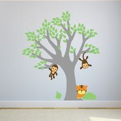 Monkey Tree Wall Sticker