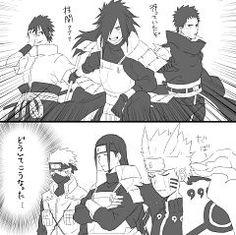 The Uchiha : let a destroy the leaf Hokage : damn Uchiha Anime Naruto, Naruto Fan Art, Naruto Comic, Naruto Cute, Madara And Hashirama, Naruto Shippuden Sasuke, Naruto And Sasuke, Boruto, Naruto Clans
