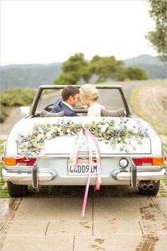 wedding car decor ideas /weddingchicks/                                                                                                                                                                                 More
