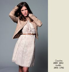 Classic Perfecto Leather with Romantic Sand Dress