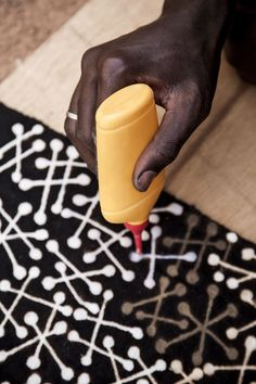 Africa | Pattern | Textile - bogolan, mud cloth from Mali by designer Boubacar Doumbia. Photo: David Crookes