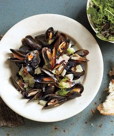 Mussels With Fennel and Wine Recipe from realsimple.com (Note: contains a small amount of alcohol) #MyPlate #protein