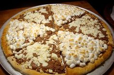 Chocolate Pizza. Max Brenner. 841 Broadway. New York, NY 10003. 212-388-0030. (Pizza - Aaron Sanchez).